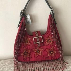 NEVER USED BEADED BAG